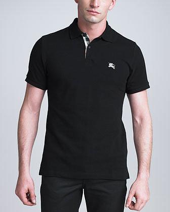 Burberry Brit Modern-Fit Logo Polo, Black