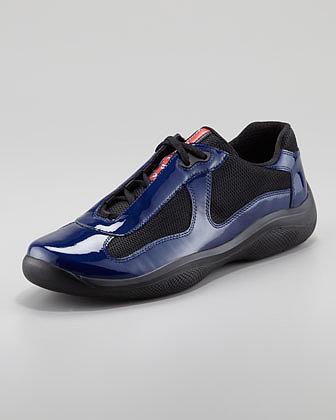Prada Americas Cup Patent Leather Sneaker