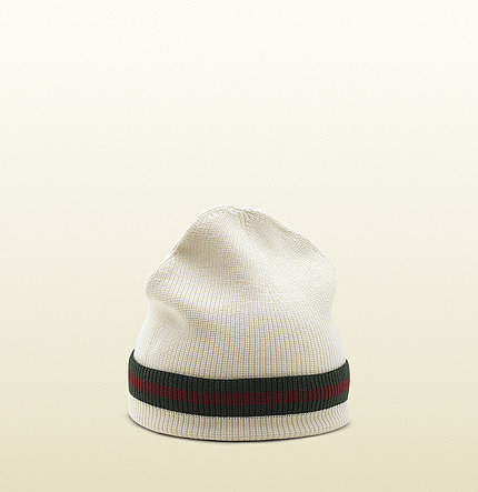 Knit Hat With Signature Web Detail.