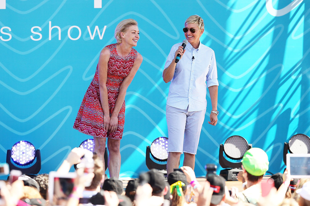 In March 2013, Portia de Rossi joined Ellen DeGeneres on stage in her home country of Australia.