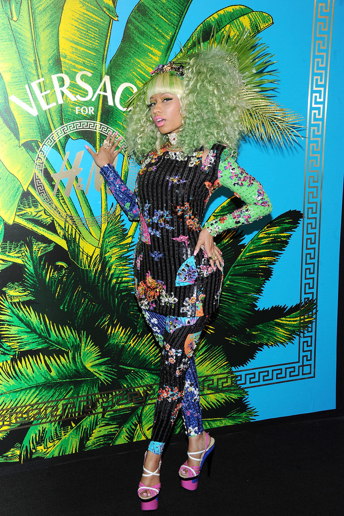 Asking Nicki Minaj to blend in is usually a much taller order than it was at the Versace for H&M launch.
