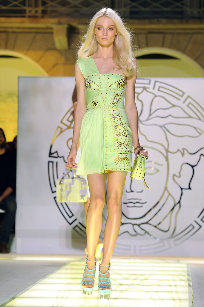 The Summer 2012 runway was an explosion of studs — just the way Donatella likes it!