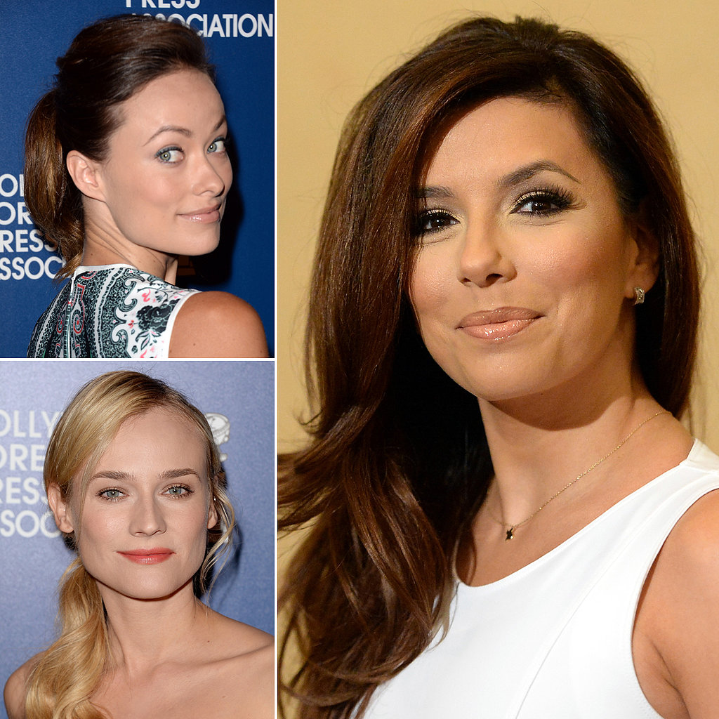 Diane Kruger and Eva Longoria Shine at the Foreign Press Luncheon