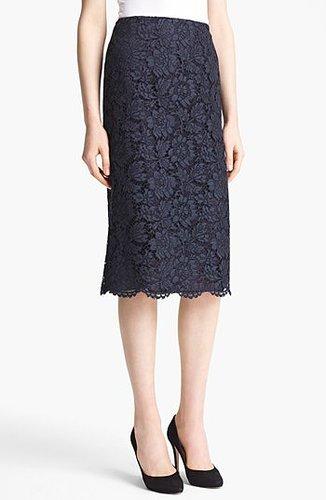 Valentino Tubino Lace Skirt Navy 6
