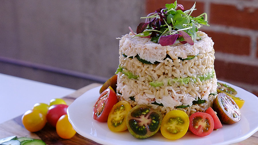 Create a Stunning California Roll Sushi Cake!