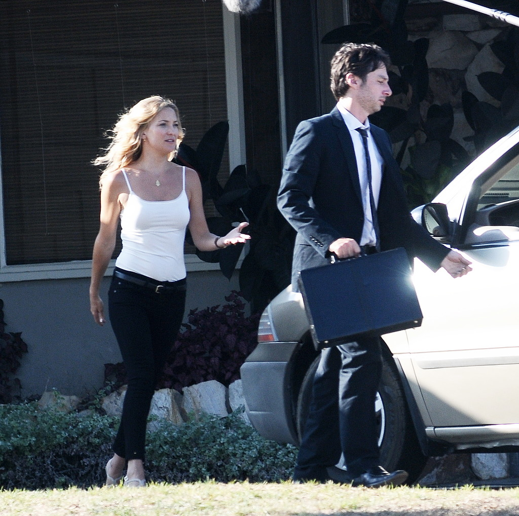 Kate Hudson filmed scenes with Zach Braff in LA.