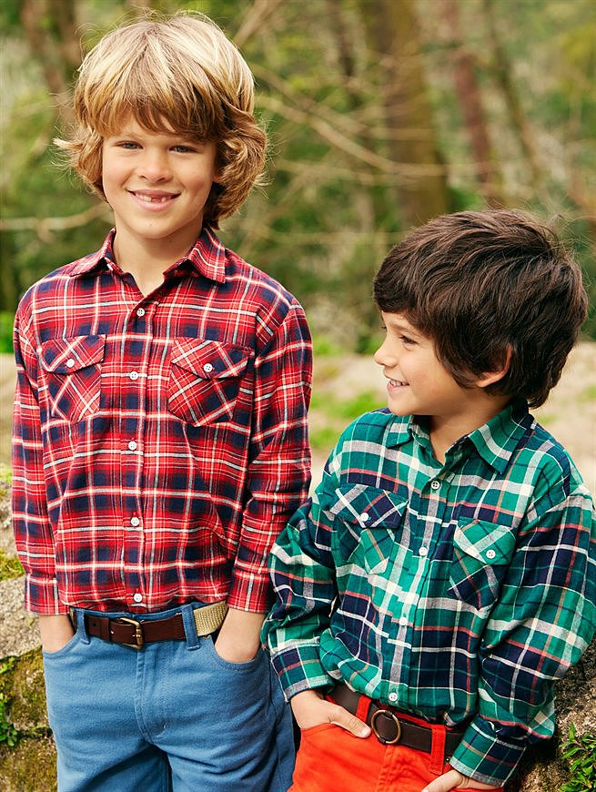 Look 5 — Boys' Fisherman Shirts ($95 each)
