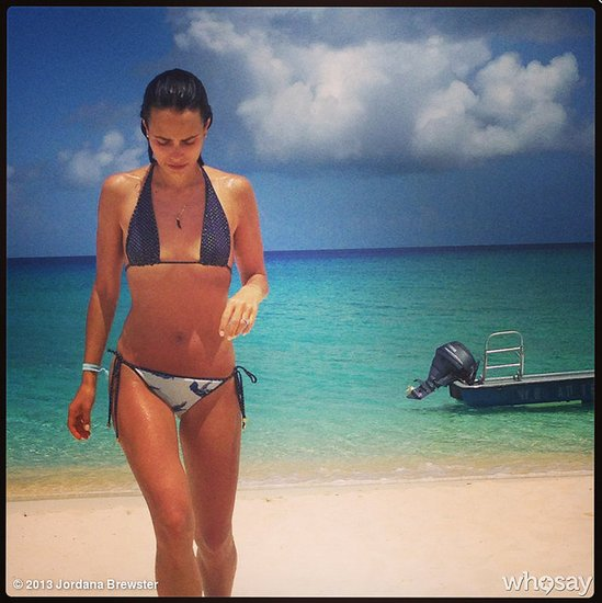 "Jordana Brewster donned a tiny bikini for a vacation in ""paradise."" Source: WhoSay user JordanaBewster"