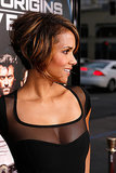 Halle debuted a shorter, graduated bob with plenty of highlights at the premiere of X-Men Origins: Wolverine, a look very different from Storm's signature silvery strands.
