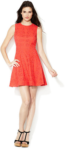 Hailey Eyelet Fit and Flare Dress