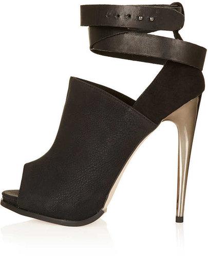 GEGE Peep Toe Boots