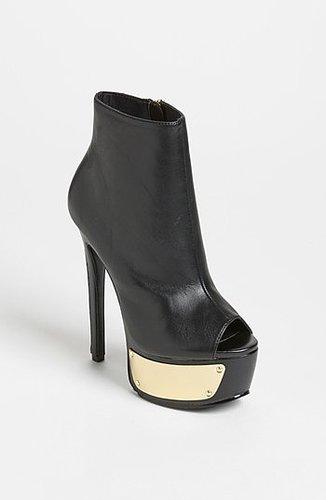 Steve Madden 'Sloann' Bootie Womens Black/ Gold Size 8 M 8 M