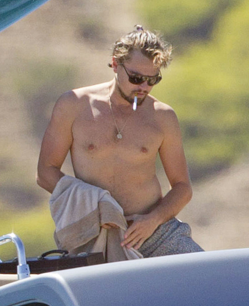 In August, Leonardo DiCaprio puffed on an e-cigarette in Ibiza.
