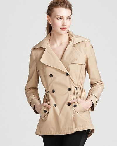 Marc New York Double Breasted Trench Coat with Attached Hood