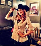 Lake Bell showed her cowgirl side for the camera during a recent trip to Texas. Source: Twitter user lakebell
