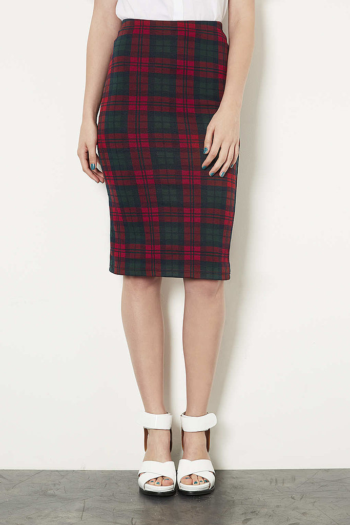Part schoolgirl, part sophisticate — you'll be happy you have Topshop's checked tube skirt ($45) in your Fall wardrobe.