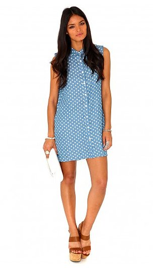 How cute will MissGuided's Kemina polka-dot oversize shirtdress ($33) look with your favorite ankle boots?