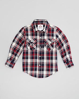Appaman Fire Brick Flannel Shirt