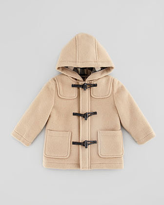 Burberry Infant Boys' Wool Toggle Coat, Camel, 18M-2Y