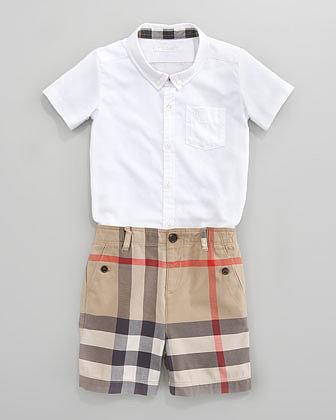 Burberry Mini Check Shorts