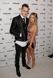 Ashley Tisdale showed off her new engagement ring at InStyle's Summer party with her fiancé, Christopher French.
