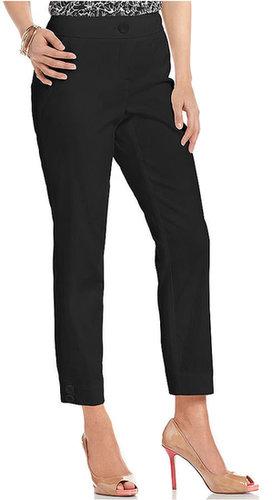 Style&co. Pants, Tummy-Control Button-Hem Capri