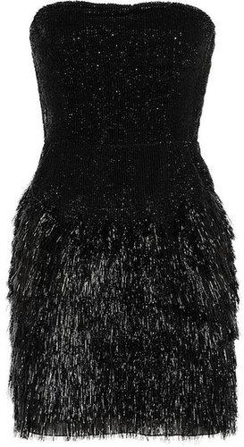 Roberto Cavalli Fringed sequined dress
