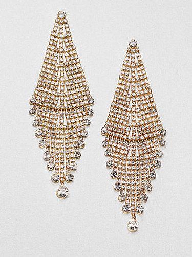 ABS by Allen Schwartz Jewelry Glass Chandelier Earrings