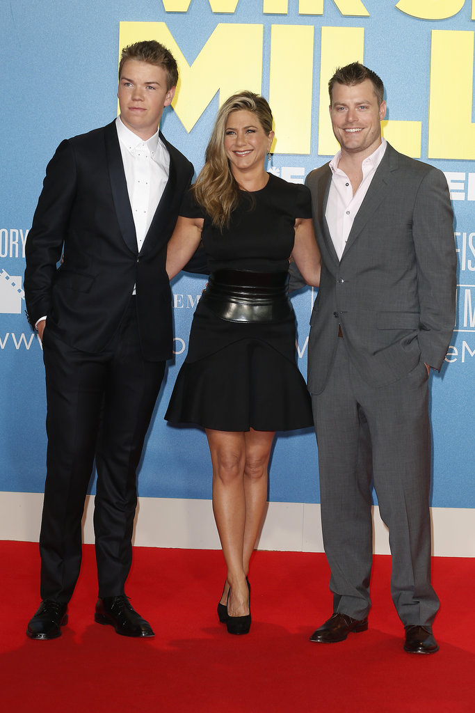 Jennifer Aniston posed with her costars, Will Poulter and Rawson Marshall Thurber, at their Berlin premiere.