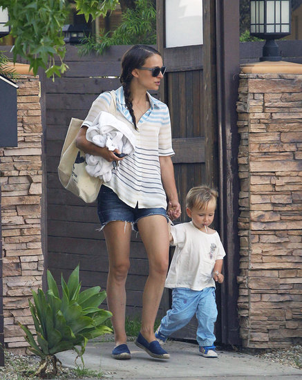 Lollipops and Hand-Holding: Natalie Portman and Little Aleph Are Too Sweet