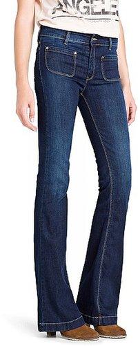Dark wash flared jeans