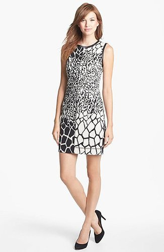 Nicole Miller Jacquard Sheath Dress