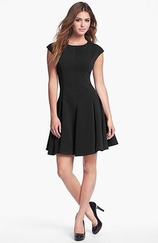 Eliza J Ponte Knit Skater Dress (Regular & Petite) Black 10