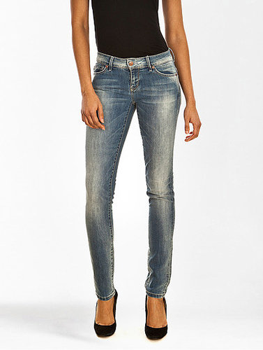 Jeans Skinny Low Coral Skinny Bleu Délavé