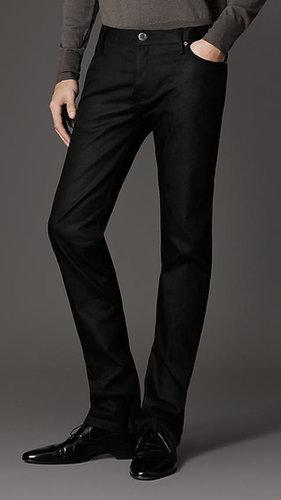 Eng sitzende, schwarze Steadman-Jeans
