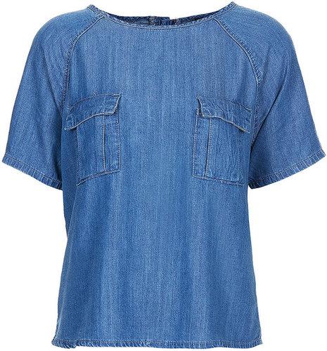 MOTO T-Shirt Mit Brusttaschen