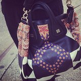 We instantly fell in love with the print on this Givenchy Nightingale bag.