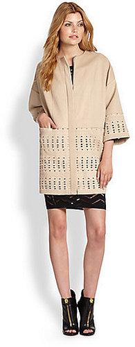 Catherine Malandrino Alma Wool Felt Coat