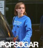 Emma Watson sported a Great Gatsby sweatshirt in NYC.