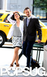 Lucy Liu and Jonny Lee Miller hit the streets of NYC to film scenes for Elementary on Thursday.