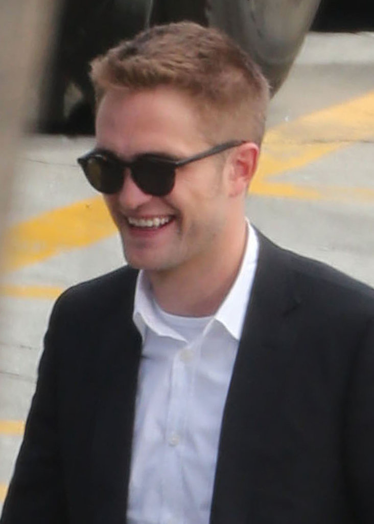 Robert Pattinson laughed on set.
