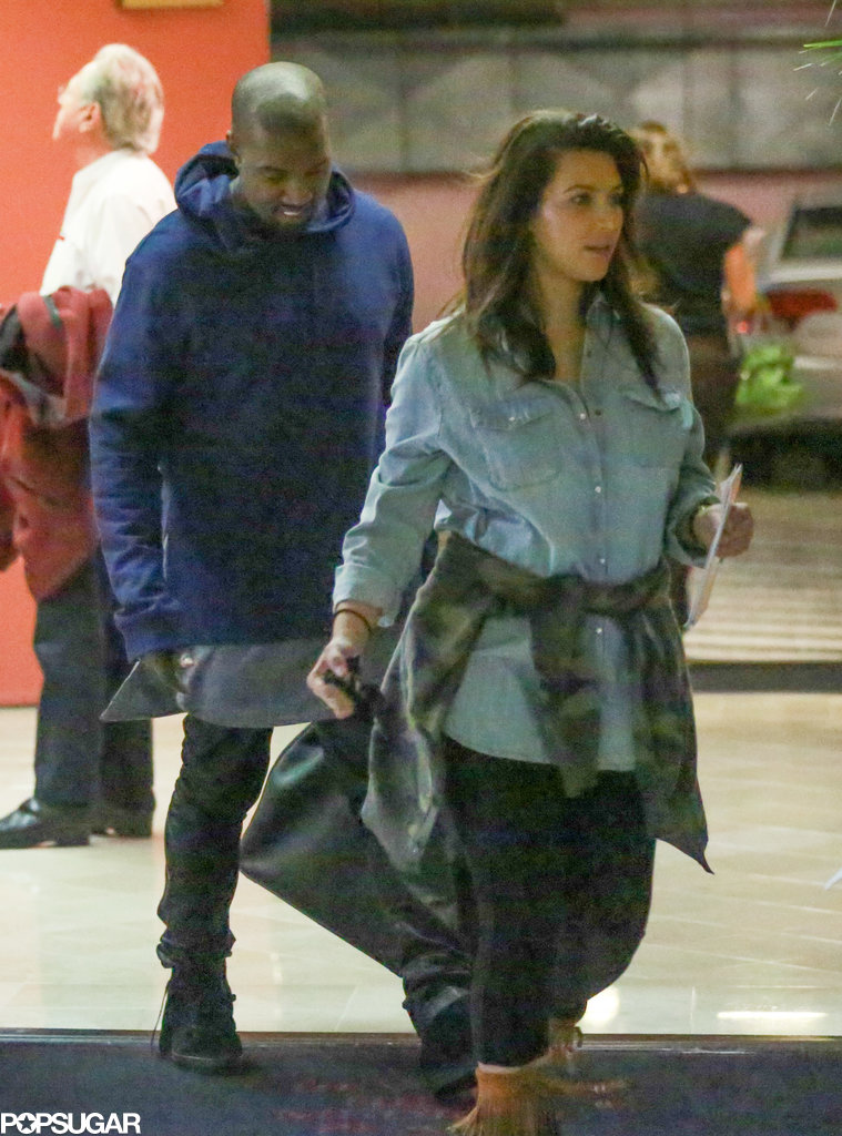 Kim Kardashian and Kanye West stepped out with baby North in LA.