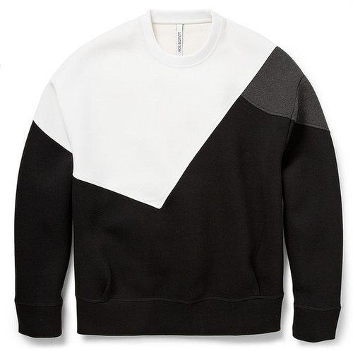 Neil Barrett Colour-Block Bonded-Jersey Sweatshirt