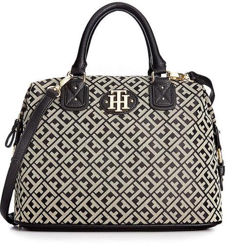 Tommy Hilfiger Handbag, Keepsake Signature Jacquard Bowler Bag
