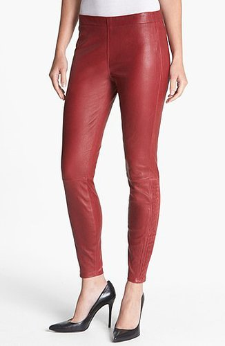 MARC by Marc Jacobs 'Lena' Leather Leggings Candied Rum 4
