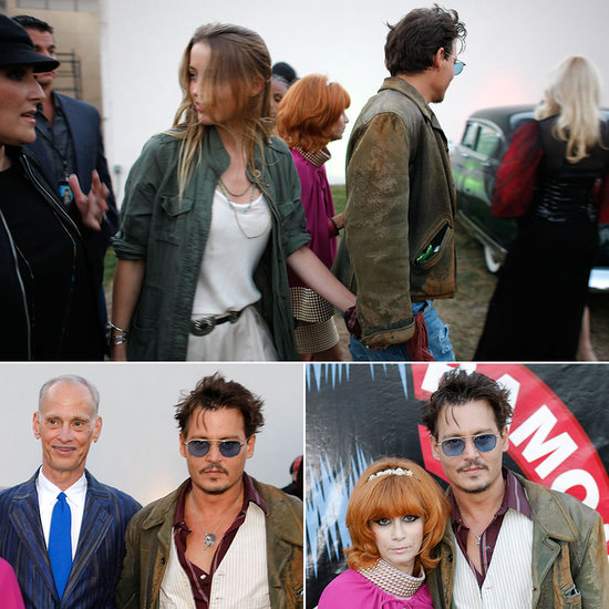 Johnny Depp Takes Amber Heard on a Punk Rock Graveyard Date