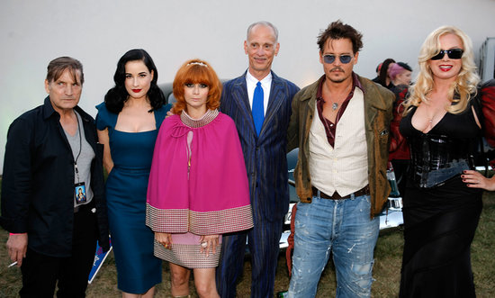 Johnny Depp mingled with Joe Dallesandro, Dita Von Teese, Linda Ramone, John Waters, and Traci Lords.