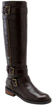 Enzo Angiolini 'Saylem' Riding Boot Womens Dark Brown Leather Size 10.5 M 10.5 M