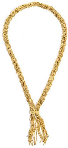 Aurélie Bidermann Miki Dora plaited rope gold necklace