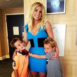 Britney Spears got hugs from her boys, Sean and Jayden, before heading out to the Smurfs 2 movie premiere in LA. Source: Instagram user britneyspears